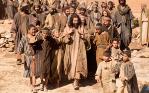 """Haaz Sleiman, center, in """"Killing Jesus"""" (CNS/Courtesy National Geographic Channels/Kent Eanes)"""